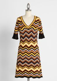Voodoo Vixen Braggin' and Zig Zaggin' Sweater Dres