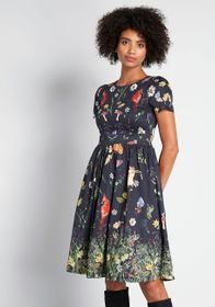 ModCloth ModCloth Moxie Medley Fit and Flare Dress
