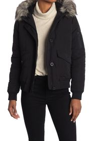 Lucky Brand Snorkle Faux Fur Trim Hood Pufer Bombe