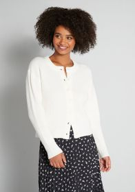 ModCloth ModCloth A Plush Must Cardigan in White