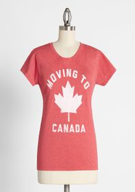 Moving to Canada Graphic Tee in Red