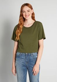 Cinzia Cinzia Relaxed Tee Bodysuit in Olive Green