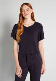 Cinzia Cinzia Cut-off Short Sleeve Sweatshirt in N