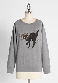 The Purr-fect Pounce Graphic Pullover Sweatshirt G
