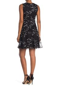 Tommy Hilfiger Embroidered Mesh Lace Fit and Flare