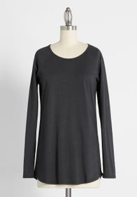 Cinzia Completely At Ease Cotton Raglan Tee Black
