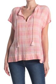 Tommy Bahama Mad Plaider Split Neck Blouse