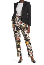 Dolce & Gabbana Deck of Cards Patterned Silk Pants