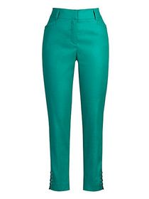 Petite High-Waisted Lace-Up Ankle Pant - Modern -