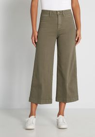 OAT A Fondness for Fika Wide-Leg Pants in Olive