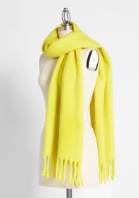 Drive Me Cozy Scarf in Yellow