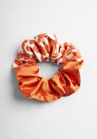 Fall Butterflies Scrunchie in Red