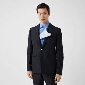 Burberry Classic Fit Wool Linen Mohair Tailored Ja