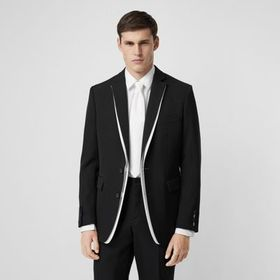 Burberry English Fit Double-front Detail Wool Tail