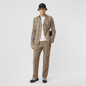 Burberry Slim Fit Vintage Check Wool Mohair Tailor