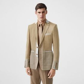 Burberry English Fit Wool Cashmere and Linen Tailo