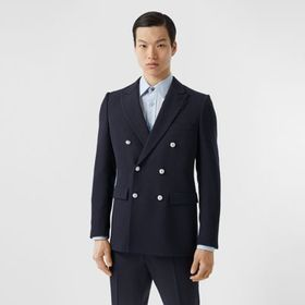 Burberry English Fit Wool Double-breasted Jacket