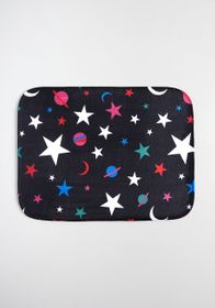 Mystical Meteor Showers Bath Mat in Black Multi