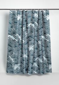 Out to Sea Shower Curtain in Teal
