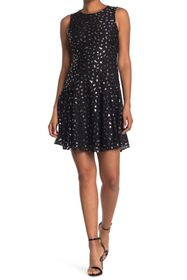 Tommy Hilfiger Leopard Lace Fit and Flare
