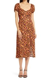French Connection Ameli Leopard Spot Dress