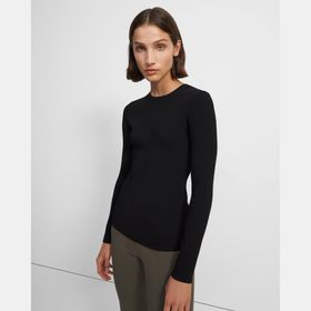 Crewneck Sweater in Compact Crepe