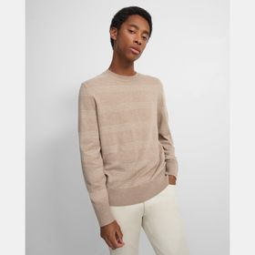 Crewneck Sweater in Striped Wool-Cashmere