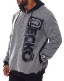 Ecko double negative full zip sherpa hoodie (b&t)