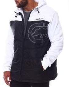 Ecko chevron printed tape hooded jacket (b&t)