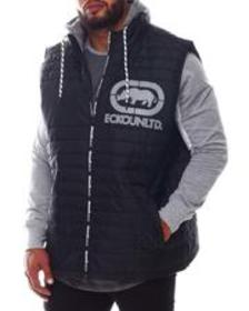 Ecko zip me up hooded vest (b&t)