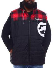 Ecko lumber jack hooded vest (b&t)