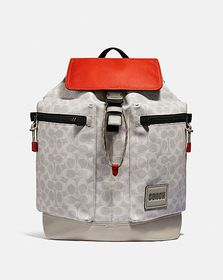 Coach pacer utility backpack in signature canvas w