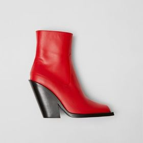 Burberry Leather Block-heel Ankle Boots in Bright