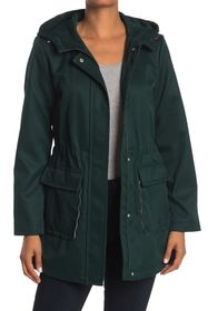 kate spade new york hooded water resistant trench