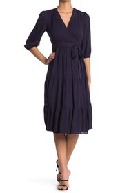 BODEN Aurora Midi Wrap Dress