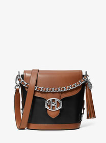 Michael Kors Monogramme Two-Tone Leather Front-Fla