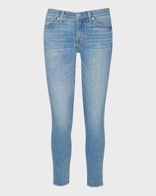 7 For All Mankind b(air) Ankle Skinny with Frayed
