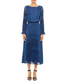 Armani - Dot Print Pleated Dress