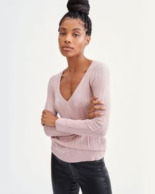 7 For All Mankind Long Sleeve Scoop Neck Pullover