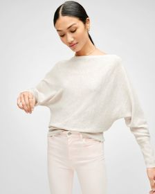 7 For All Mankind Boatneck Dolman Top in Oatmeal
