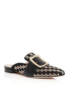 Bally - Women's Janesse Logo-Stud Buckled Mules