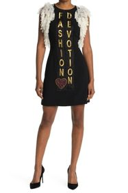 Dolce & Gabbana Lace Cap Sleeve Graphic Bodycon Dr