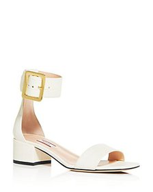 Bally - Women's Janise Croc-Embossed Block-Heel Sa