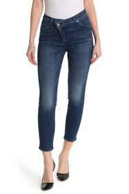 7 For All Mankind Asymmetrical Ankle Cut Skinny Je