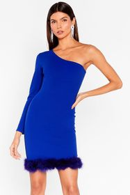 Nasty Gal Purple Feather Say Feather One Shoulder