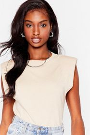 Nasty Gal Biscuit Power Hour Shoulder Pad Knitted