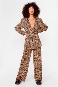 Nasty Gal Brown Play the Wild Card Leopard Wide-Le