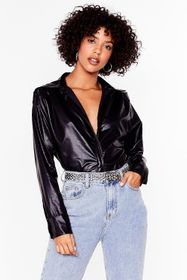 Nasty Gal Black Where Faux Leather You Are Relaxed