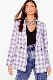 Nasty Gal Lilac Checking You Out Oversized Double