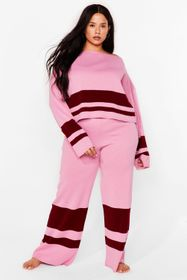 Nasty Gal Pink Colorblock the Haters Plus Lounge P